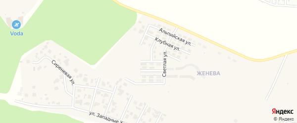 Переулок Озёрный (мкр Женева) на карте Западного поселка с номерами домов