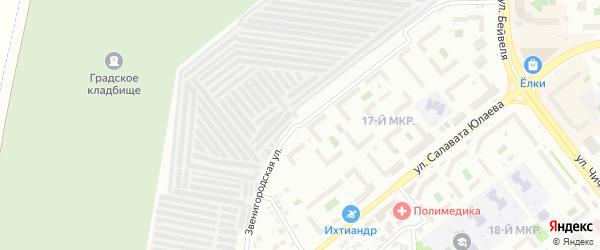 Звенигородская улица на карте Челябинска с номерами домов