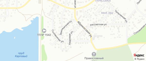 Кедровая улица на карте Челябинска с номерами домов