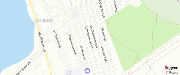 Сад СНТ Волна на карте Челябинска с номерами домов