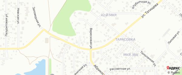 Вересковая улица на карте Челябинска с номерами домов