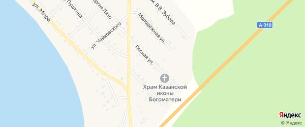 Лесная улица на карте села Кичигино с номерами домов