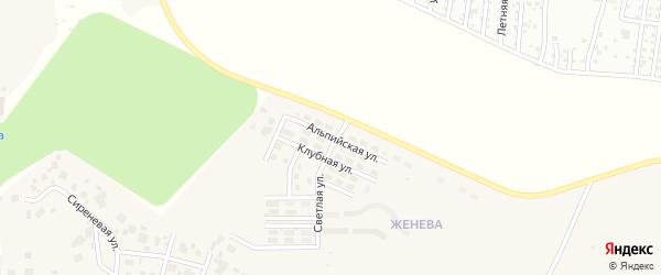 Улица Альпийская (мкр Женева) на карте Западного поселка с номерами домов