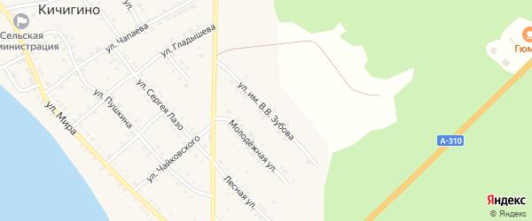 Улица им В.В.Зубова на карте села Кичигино с номерами домов