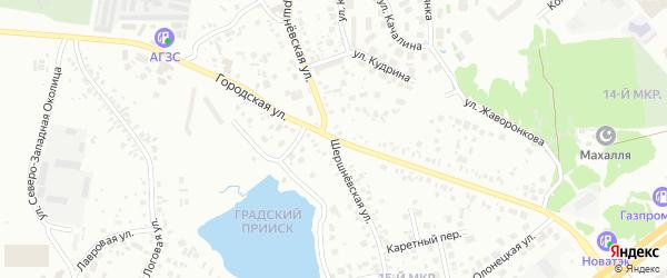 Шершневская улица на карте Челябинска с номерами домов