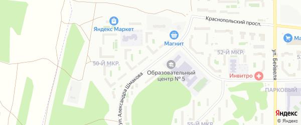Улица Александра Шмакова на карте Челябинска с номерами домов