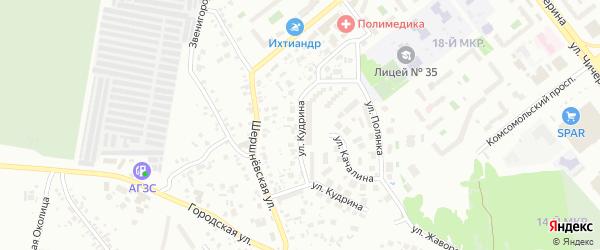 Улица Кудрина на карте Челябинска с номерами домов