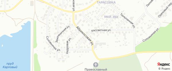 Абрикосовая улица на карте Челябинска с номерами домов