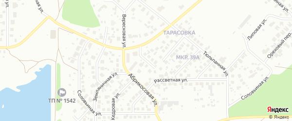 Брусничная улица на карте Челябинска с номерами домов
