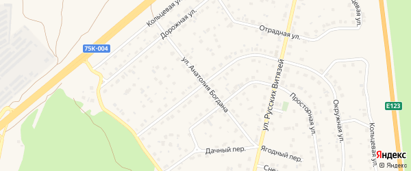 Улица Анатолия Богдана на карте Южноуральска с номерами домов