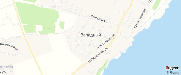 Карта Западного поселка в Челябинской области с улицами и номерами домов
