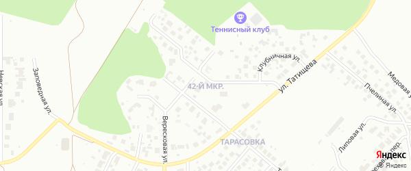 42-й микрорайон на карте Челябинска с номерами домов