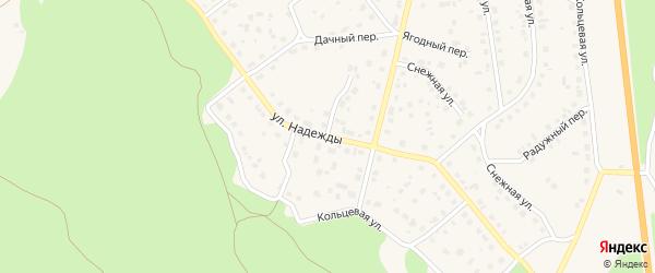 Улица Надежды на карте Южноуральска с номерами домов