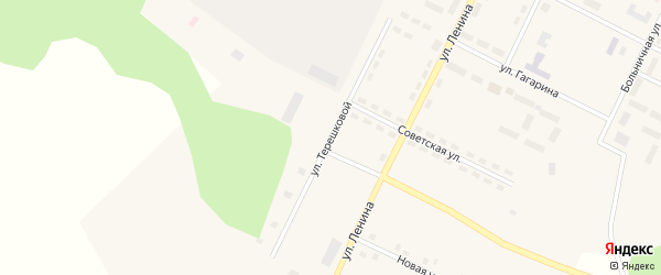 Улица Терешковой на карте Берегового поселка с номерами домов