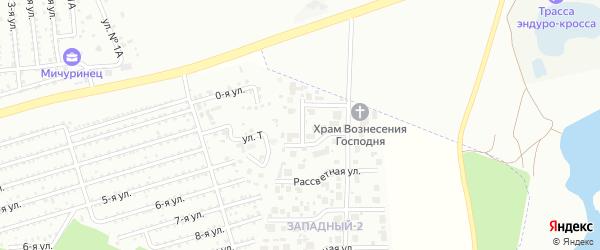 Улица Западная (мкр Западный-2) на карте Западного поселка с номерами домов