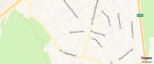 Дачный переулок на карте Южноуральска с номерами домов