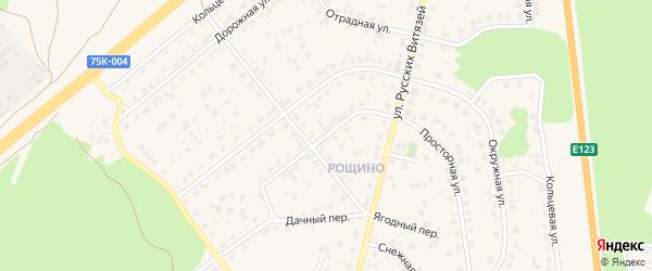 Просторная улица на карте Южноуральска с номерами домов