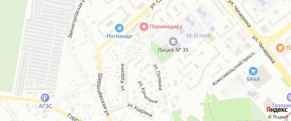 Улица Качалина на карте Челябинска с номерами домов