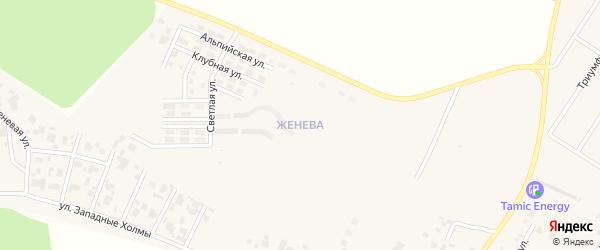 Улица Вишнёвый переулок (мкр Женева) на карте Западного поселка с номерами домов