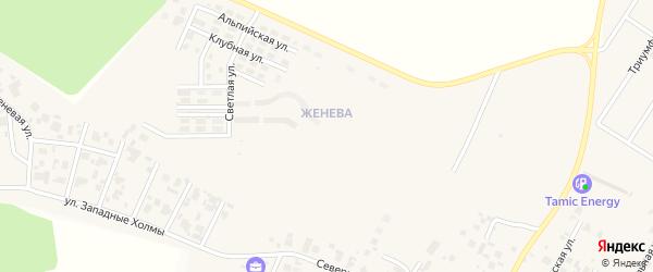 Улица Женевский бульвар (мкр Женева) на карте Западного поселка с номерами домов