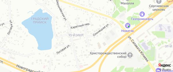 Сарапульская улица на карте Челябинска с номерами домов