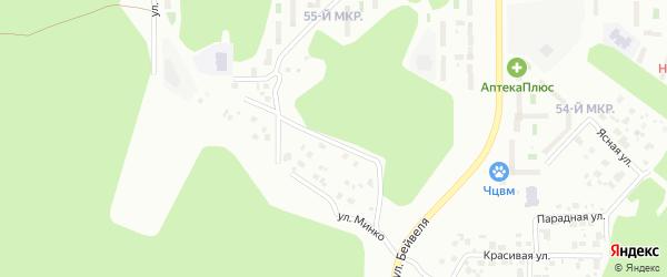 Улица Генерала Брусилова на карте Челябинска с номерами домов