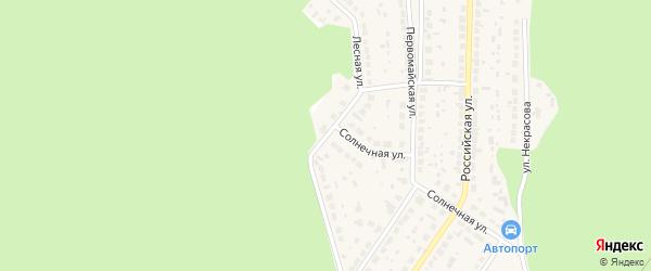 Лесная улица на карте поселка Рощино с номерами домов