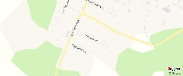 Новая улица на карте Берегового поселка с номерами домов