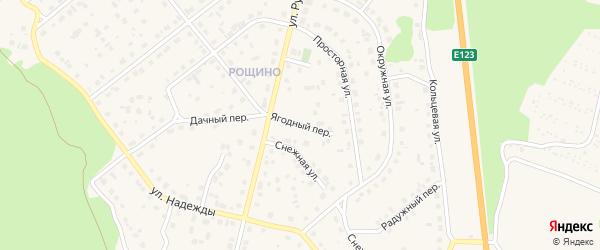 Ягодный переулок на карте Южноуральска с номерами домов