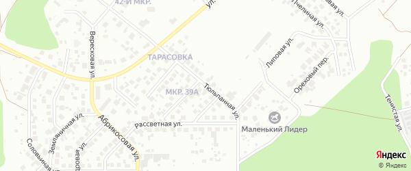 Тюльпанная улица на карте Челябинска с номерами домов