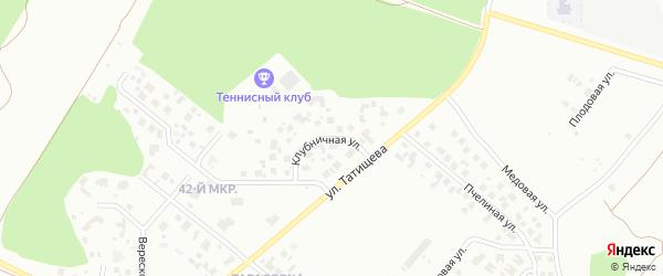 Клубничная улица на карте Челябинска с номерами домов