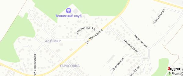Улица Татищева на карте Челябинска с номерами домов