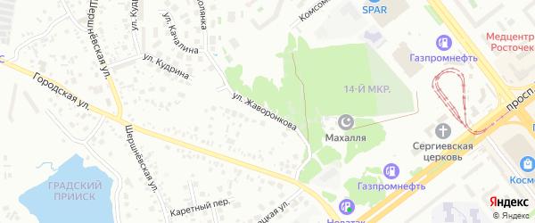 Улица Жаворонкова на карте Челябинска с номерами домов