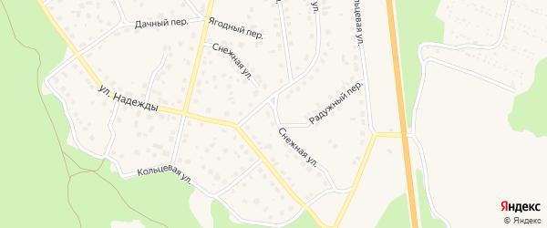 Снежная улица на карте Южноуральска с номерами домов