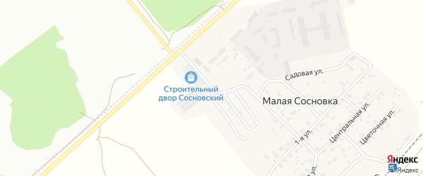 Березовая улица на карте поселка Малой Сосновки с номерами домов