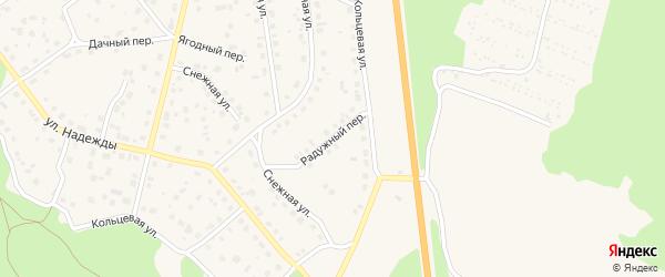 Радужный переулок на карте Южноуральска с номерами домов