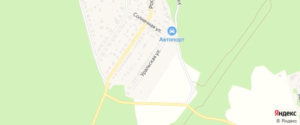 Уральская улица на карте поселка Рощино с номерами домов