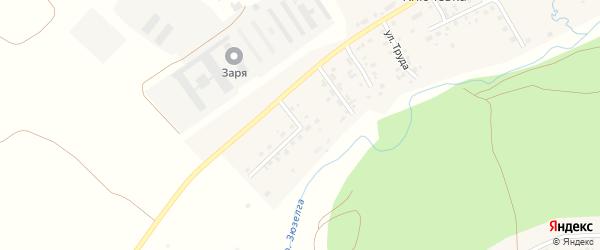 Солнечный переулок на карте деревни Ключевки с номерами домов