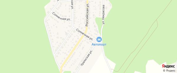 Солнечная улица на карте поселка Рощино с номерами домов