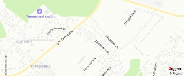 Пчелиная улица на карте Челябинска с номерами домов