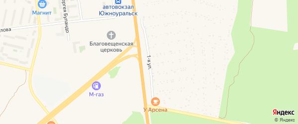Первая улица на карте Южноуральска с номерами домов