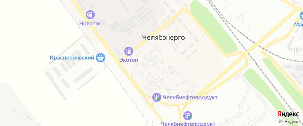 Живописная улица на карте Челябинска с номерами домов