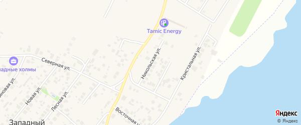 Никольская улица на карте Западного поселка с номерами домов