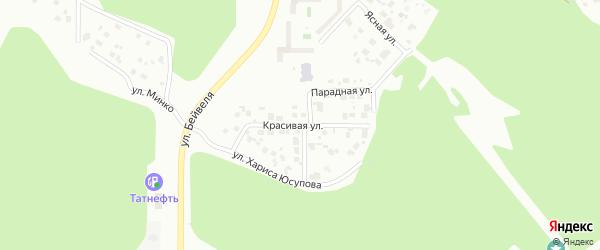 Красивая улица на карте Челябинска с номерами домов