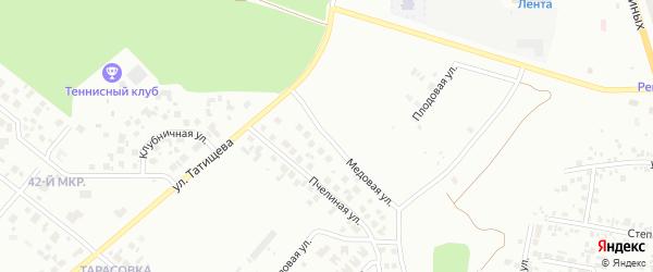 Медовая улица на карте Челябинска с номерами домов