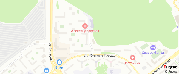 Улица Аношкина на карте Челябинска с номерами домов