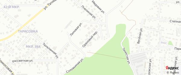 Ореховый переулок на карте Челябинска с номерами домов