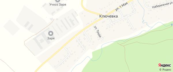 Колхозный переулок на карте деревни Ключевки с номерами домов