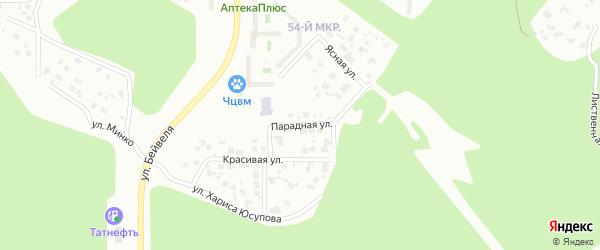 Парадная улица на карте Челябинска с номерами домов