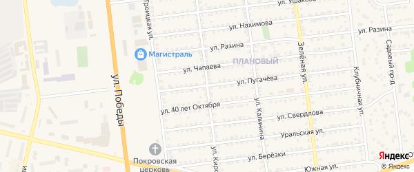 Улица Кирова на карте Южноуральска с номерами домов